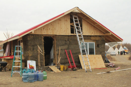 School edifice in construction for Standing Rock children. | Michelle Zacarias/PW