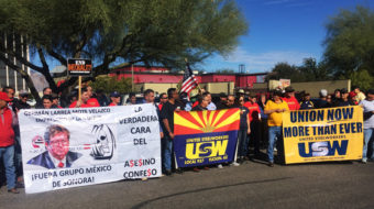 Tucson copper miners rally for a union contract