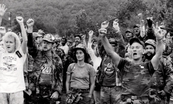 On the picket line against Pittston Coal in West Virginia, 1989. | Scott Marshall / PW
