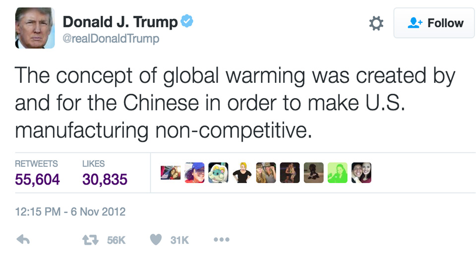 Trump and the harmful culture of climate change denial