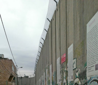 Israeli-built wall to contain Palestinian residents of Bethlehem. Larry Rubin | PW