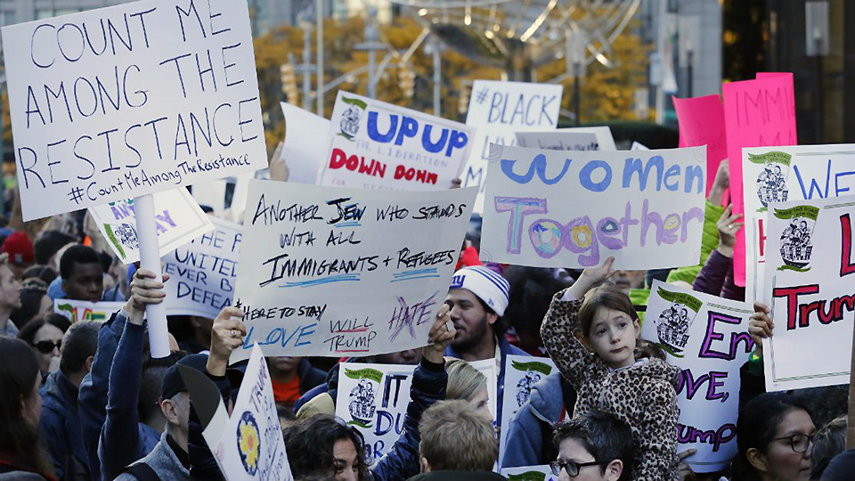 Huge rallies to protest Trump's inauguration
