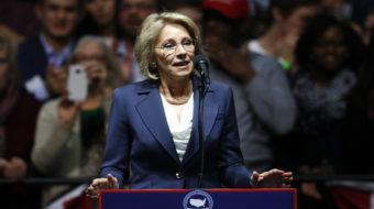 Senate education committee postpones vote on DeVos