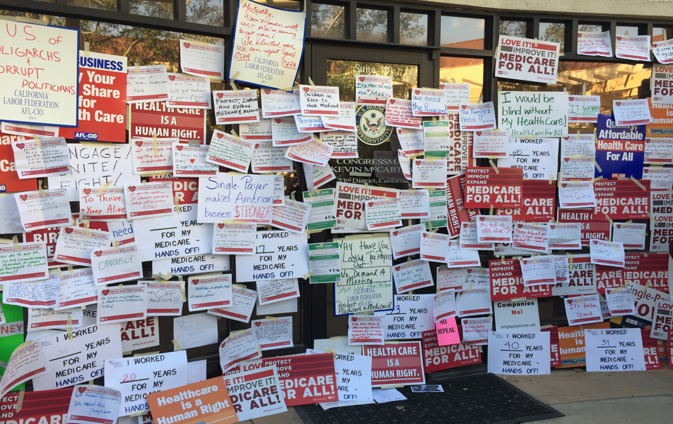Rep. Kevin McCarthy locks the door on California Medicare activists
