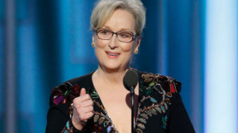 "Meryl Streep challenges Donald Trump's ""instinct to humiliate"""