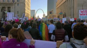 St. Louis Women's March draws thousands, protesting Trump