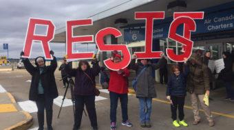 Crowds at St. Louis Lambert International Airport hit refugee ban