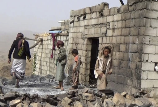 The U.S. continues to back its ally Saudi Arabia in a harsh military intervention in Yemen, widely seen as a proxy war against Iran. Here, residents in the small village of Yakla in central Yemen inspect the damage after a botched U.S. raid ordered by President Trump on Jan. 29, 2017. | AP