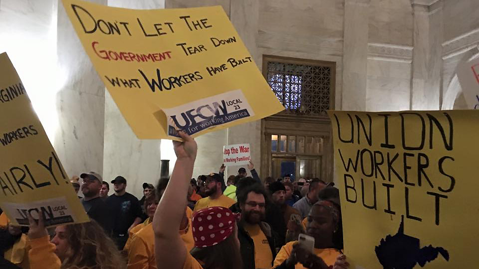 Trumpites launch all-out attack to destroy unions