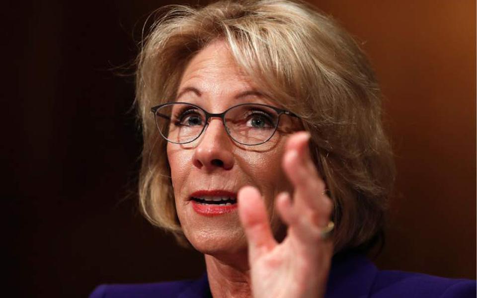 DeVos confirmed as education secretary as VP Pence breaks tie