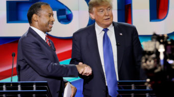 Trump meets only hand-picked backers for Black History Month
