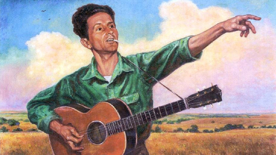 Woody Guthrie, songwriter and People's World columnist, sings again