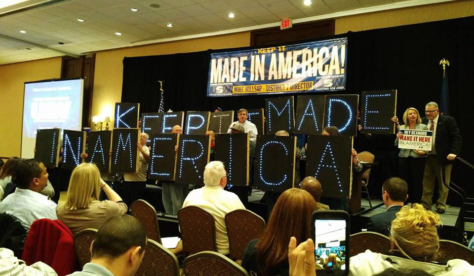 Steelworkers rally for good jobs in Indianapolis