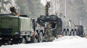 German troops, tanks on way to Lithuania for NATO mission