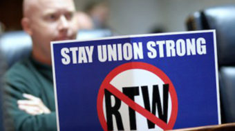 Workers in Washington State fight anti-union bill
