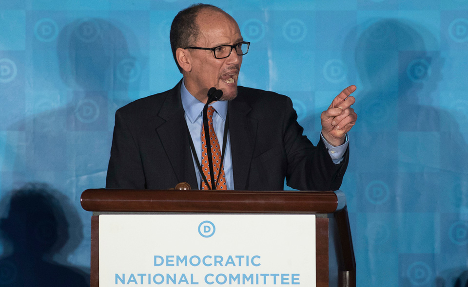 Sanders lauds Tom Perez, newly-elected DNC Chair