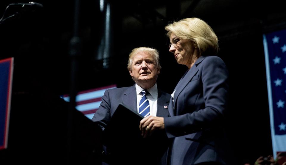 Trump's pick for Secretary of Education would privatize public schools