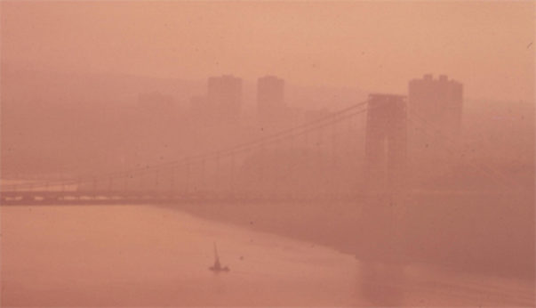 View of the George Washington Bridge on the Hudson from the New Jersey side, 1970. Photo /AFGE