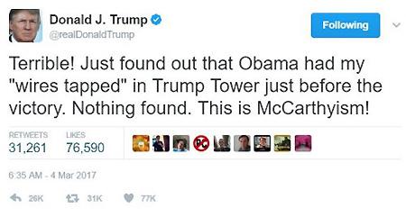 Trump's tweet of March 4.