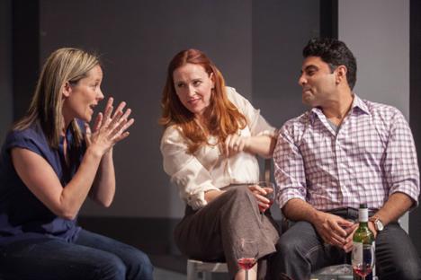 from left, Laurie Okin, Jennifer Sorenson, and Nardeep Khurmi / John Perrin Flynn