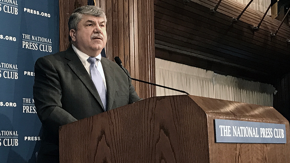 Trumka to Trump: Which side are you on?