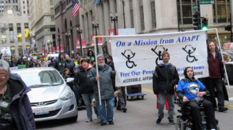 Disability rights movement defends healthcare; demands to be seen