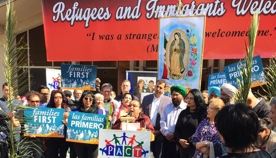 """""""We've got each other's back"""": San Jose residents march for immigrants"""