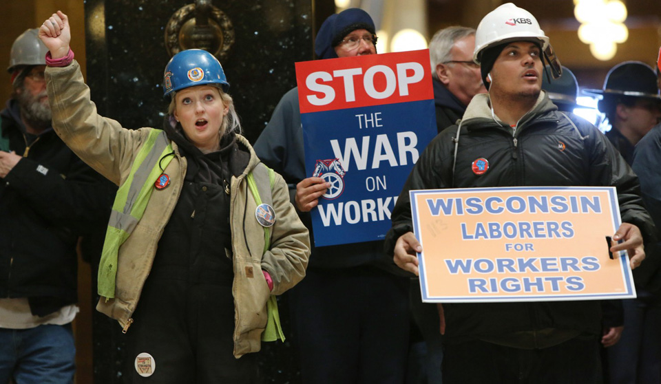 War against workers rages in Midwest states
