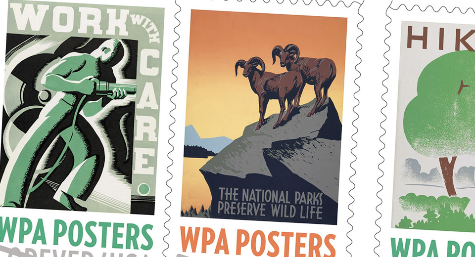 New stamps honor New Deal