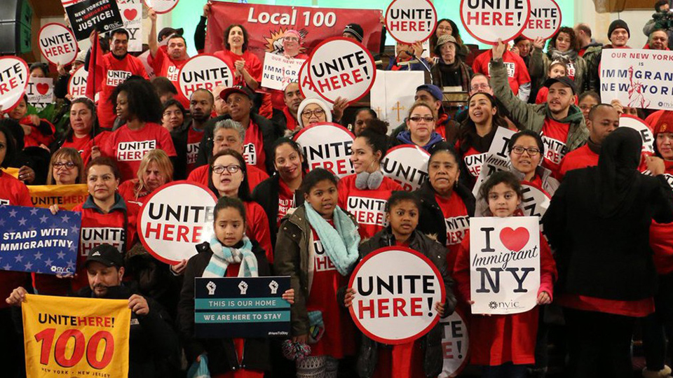 Unite Here's service workers turn out in force for May Day