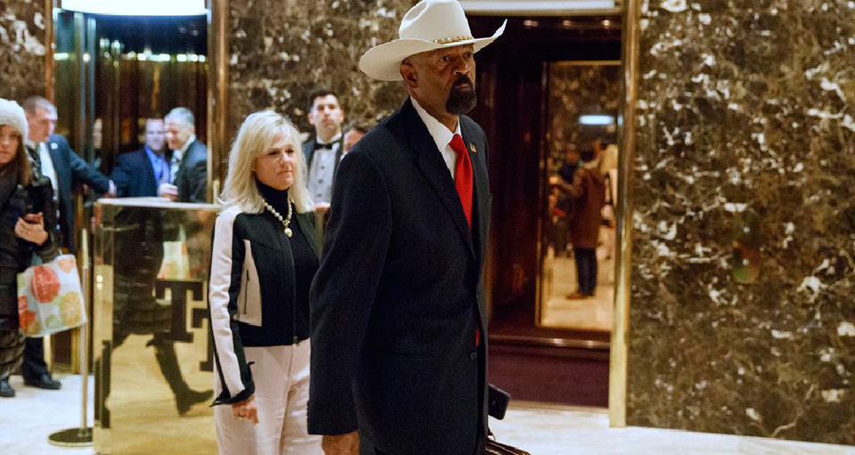 Right wing extremist sheriff may join DHS; department has yet to confirm