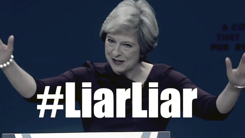 Liar, Liar: Theresa May tops Justin Bieber on UK pop charts