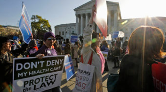 "Workers take to Capitol Hill today for ""Peoples Filibuster"" on healthcare"