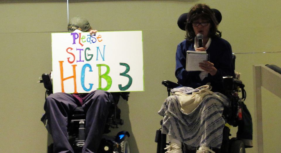 Missouri disability rights activists demand the state fund in-home care
