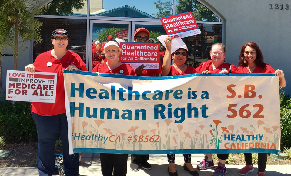 Nurses' union blasts Calif. lawmakers for dropping single payer health care bill