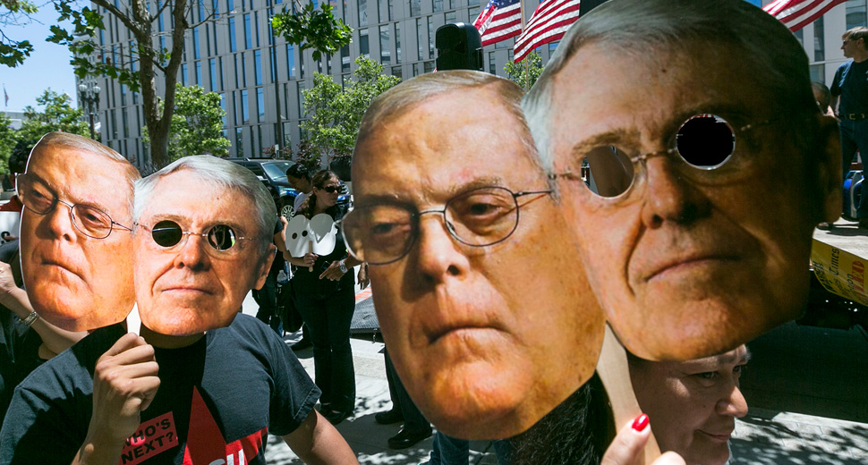 Koch brothers behind the push to kill healthcare in U.S.