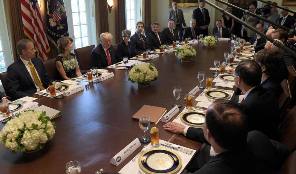 "Trump calls his own healthcare bill ""mean, mean, mean"""