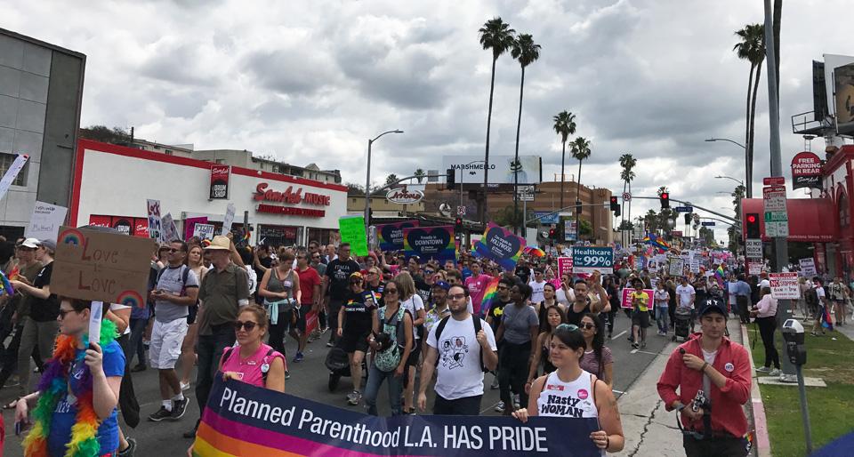Resistance trumps pride at annual LGBTQ march in L.A.