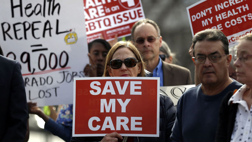 Image result for photos protest healthcare