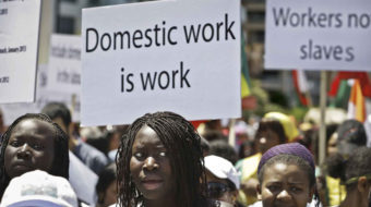Domestic workers share stories today on Black Women's Equal Pay Day