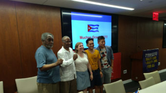 Cuban labor leader hosted by New York union