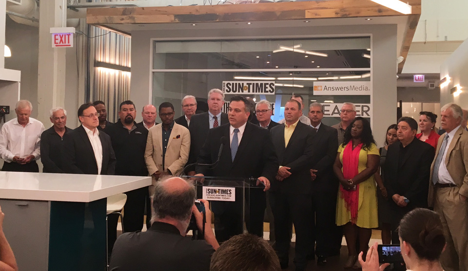 Chicago Sun-Times bought by investor group, including unions