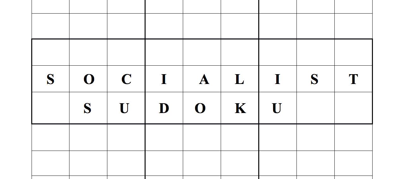 Socialist sudoku