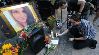Candles light the darkness in Charlottesville at memorial for Heather Heyer