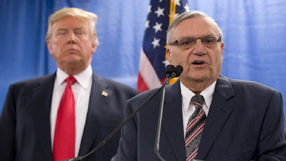 Trump considering pardon of former Sheriff Joe Arpaio