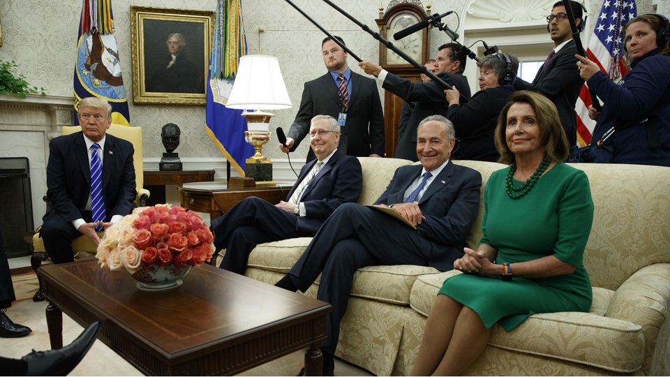 """Trump's, Schumer's and Pelosi's """"art of the deal"""" draws praise and criticism"""