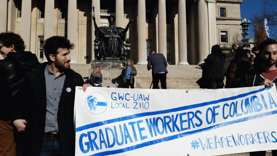 Columbia grad student workers: University stalling on bargaining