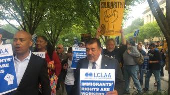 Latino labor conference turns into pro-Dreamers, anti-Trump march