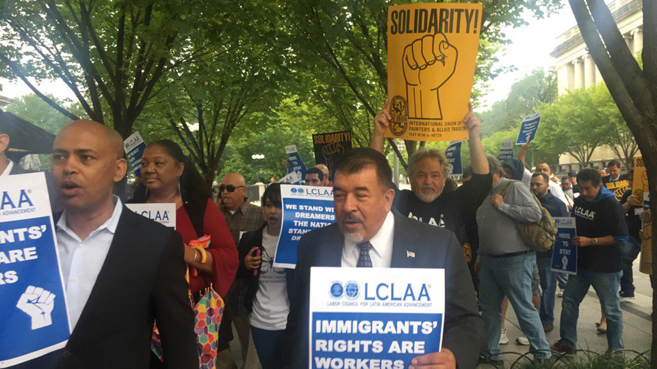 Latino labor conference turns into pro-Dreamers, anti-Trump march