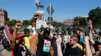Pro-Confederate demonstration dwarfed by anti-racist response